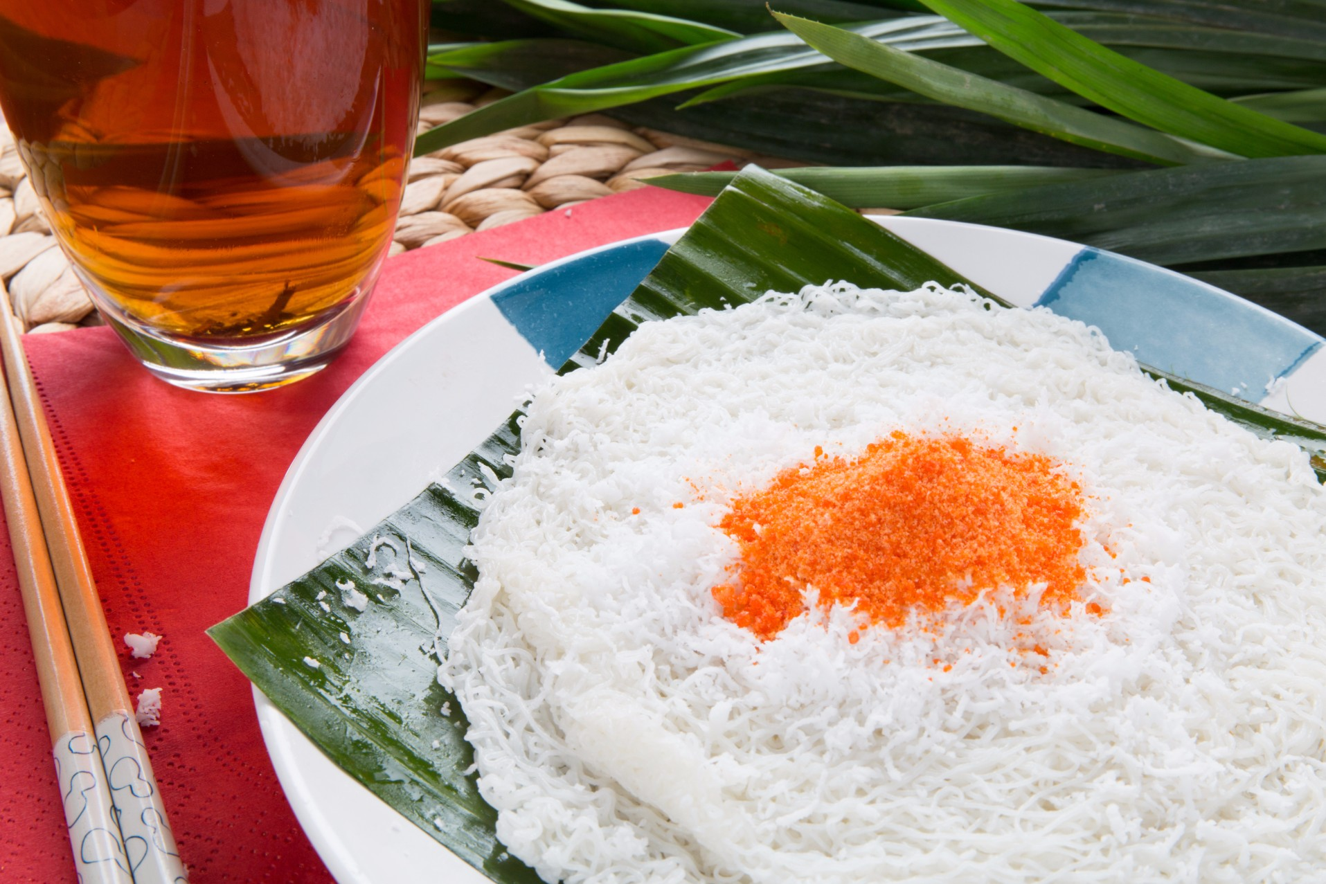 Putu Mayam with Coconut/Sugar (Sold in 10s')